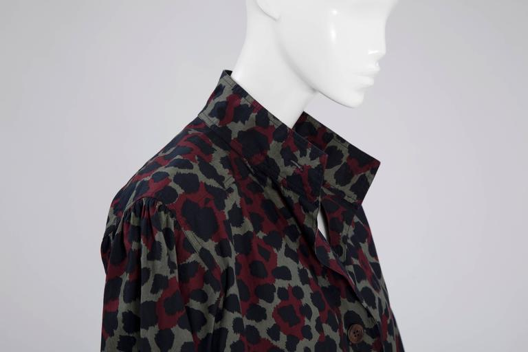 Yves Saint Laurent Leopard Skirt Suit In Excellent Condition For Sale In Geneva, CH