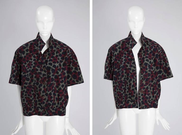 Yves Saint Laurent Leopard Skirt Suit For Sale 1
