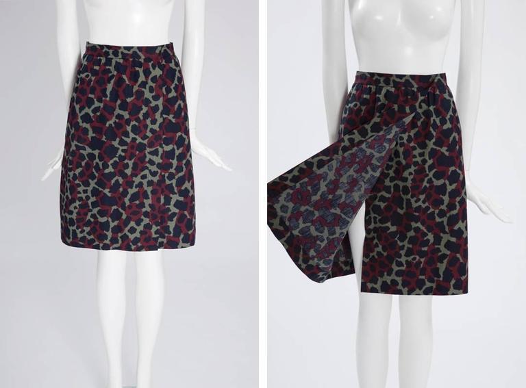 Yves Saint Laurent Leopard Skirt Suit For Sale 2