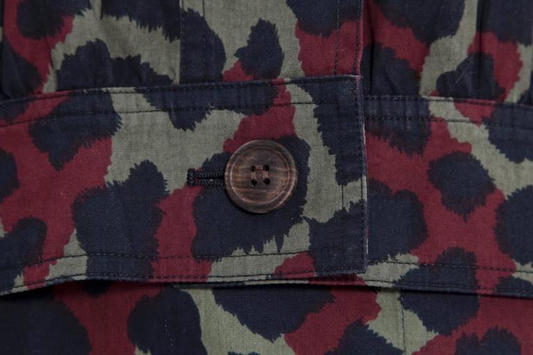 Yves Saint Laurent Leopard Skirt Suit For Sale 3