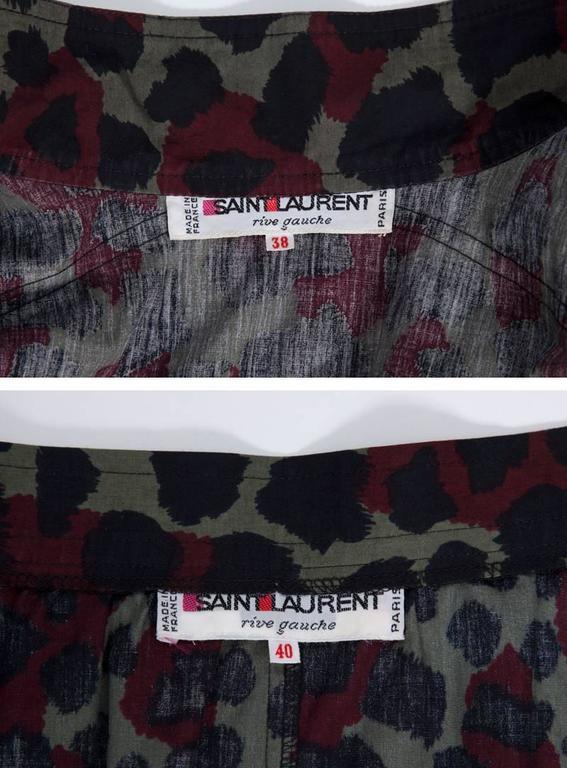 Yves Saint Laurent Leopard Skirt Suit For Sale 5