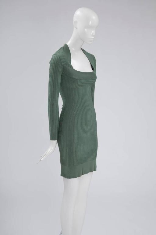 Alaïa Knit Sculptural Dress  4