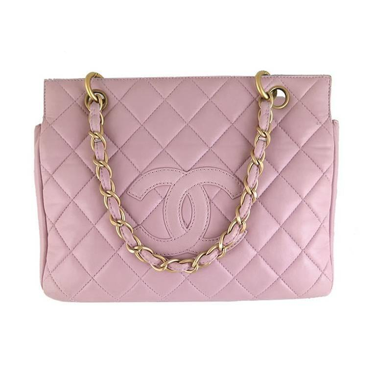 Chanel Purple Pink Lambskin Petite Timeless Shopping Tote Ptt Bag