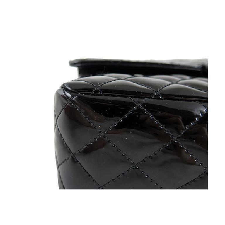 Chanel Ginza 5th Anniversary Black Patent Medium 2.55 Flap For Sale 4