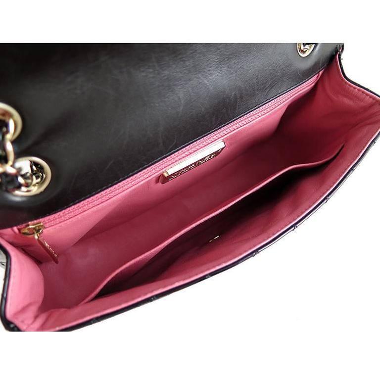 Chanel Ginza 5th Anniversary Black Patent Medium 2.55 Flap For Sale 1