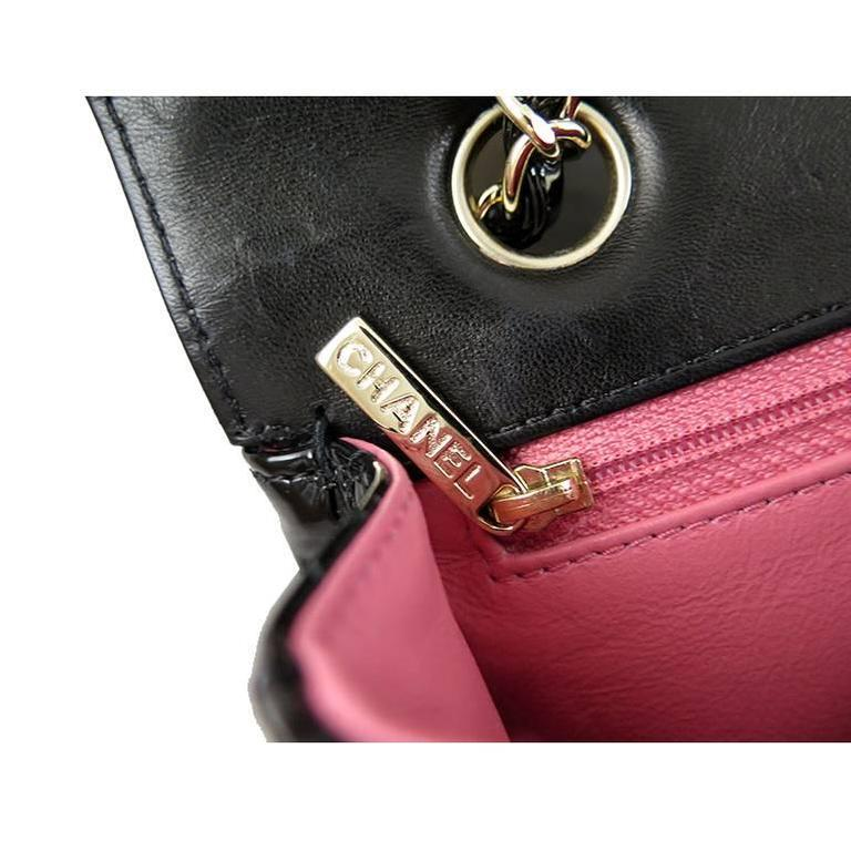 Chanel Ginza 5th Anniversary Black Patent Medium 2.55 Flap For Sale 3