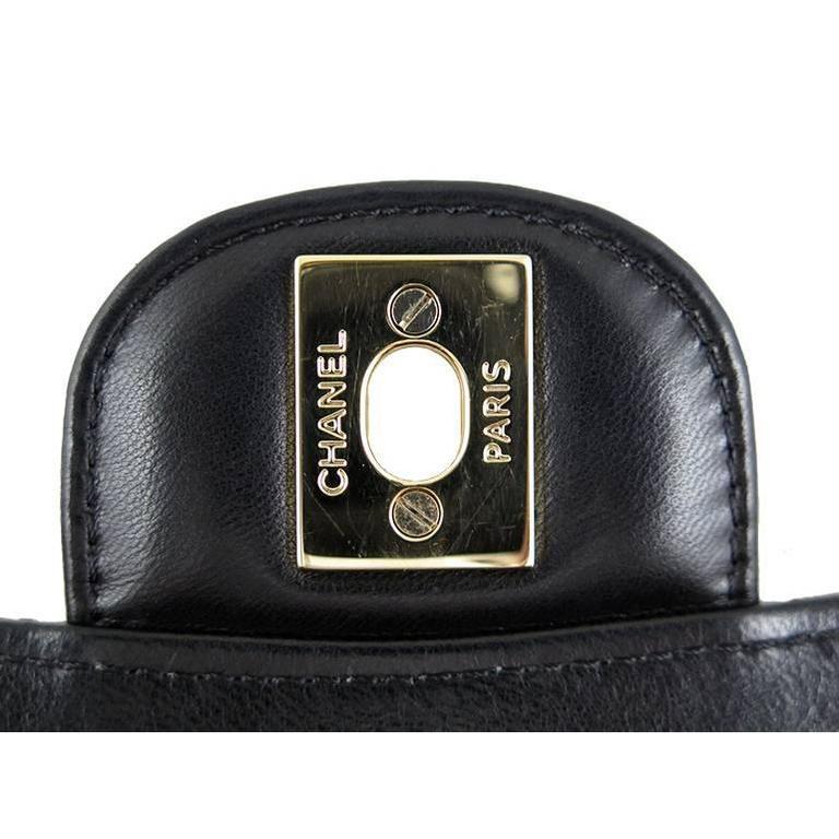 Women's Chanel Ginza 5th Anniversary Black Patent Medium 2.55 Flap For Sale