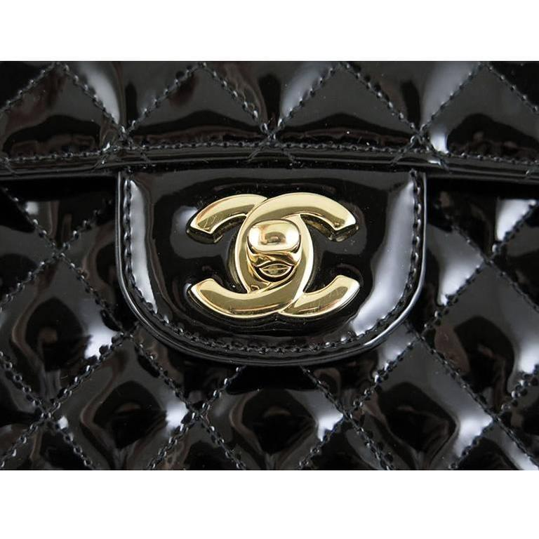 Chanel Ginza 5th Anniversary Black Patent Medium 2.55 Flap In Excellent Condition For Sale In Singapore, SG