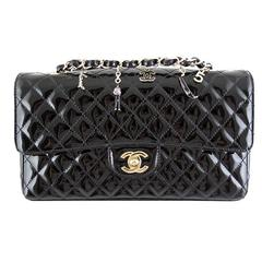 Chanel Ginza 5th Anniversary Black Patent Medium 2.55 Flap