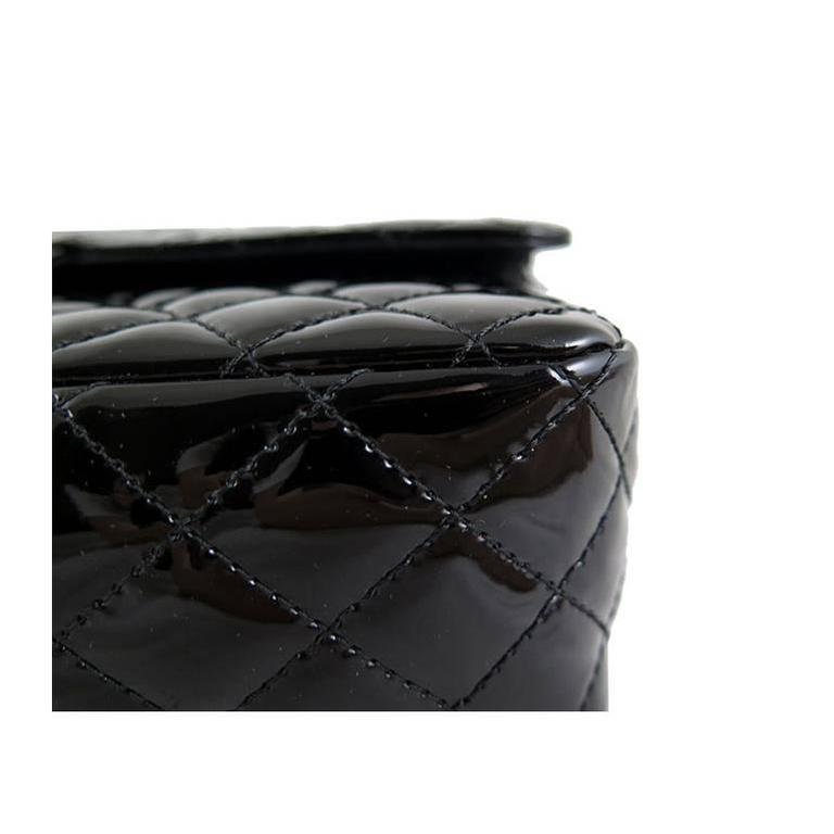 Chanel Ginza 5th Anniversary Black Patent Medium 2.55 Flap For Sale 5