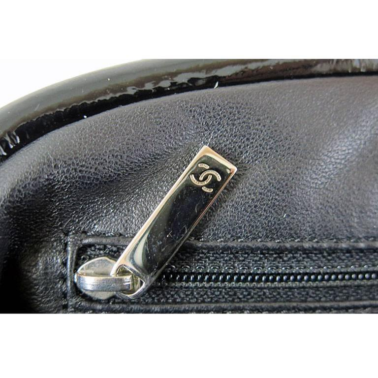 Chanel Black Distressed Patent Leather CC Timeless Clutch Bag 5