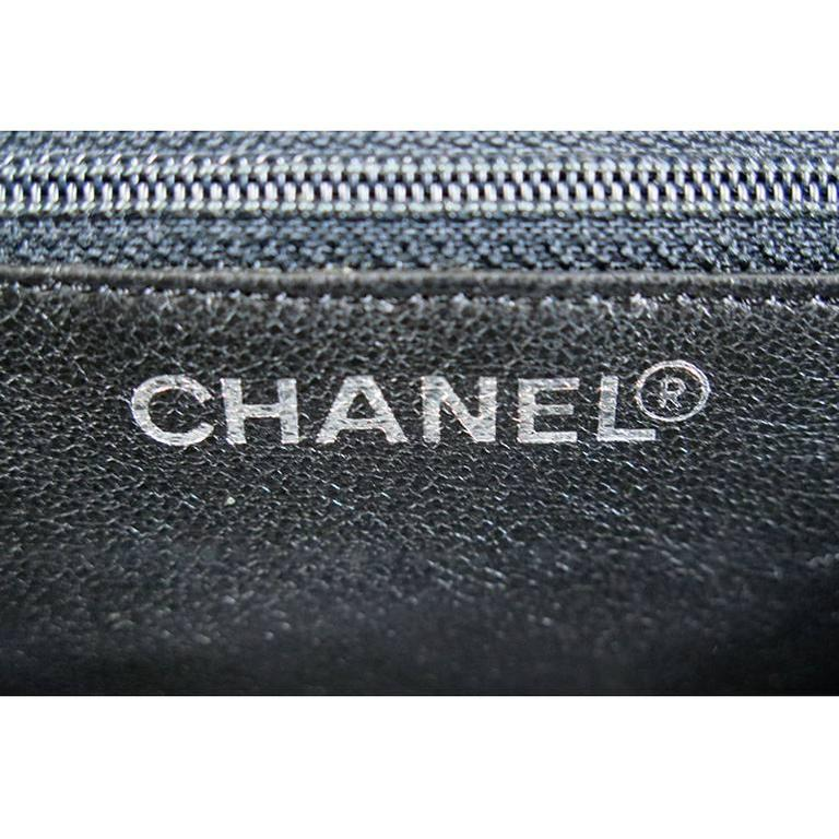Chanel Ptt Black Patent Petite Timeless Shopping Tote Bag Purse For Sale 1