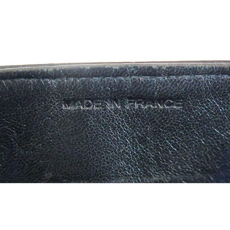 Chanel CC Mirror Black Patent Medium Evening Clutch Bag For Sale 3
