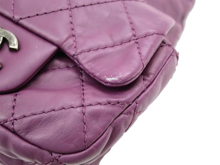 Chanel Purple Lambskin Quilted Seasonal Backpack Bag 6