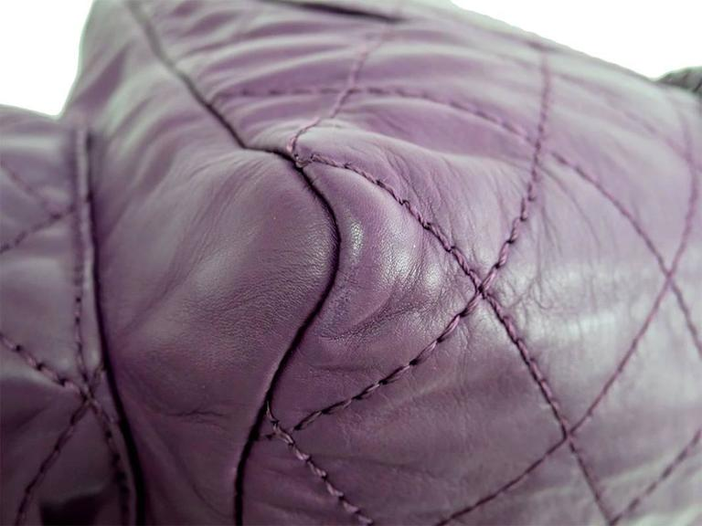 Chanel Purple Lambskin Quilted Seasonal Backpack Bag 7