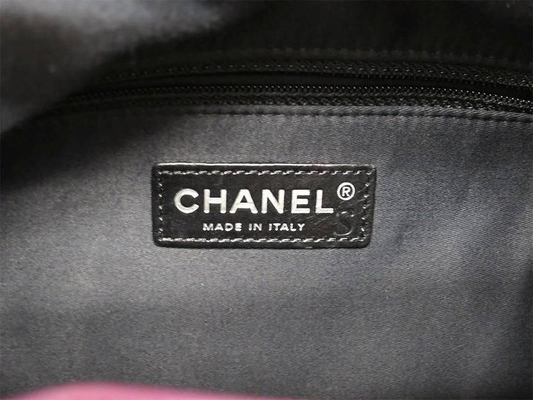 Chanel Purple Lambskin Quilted Seasonal Backpack Bag 5