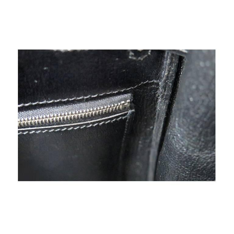 Hermes So Black Kelly 35 Boxcalf Leather Black Hardware - Rare For Sale 4