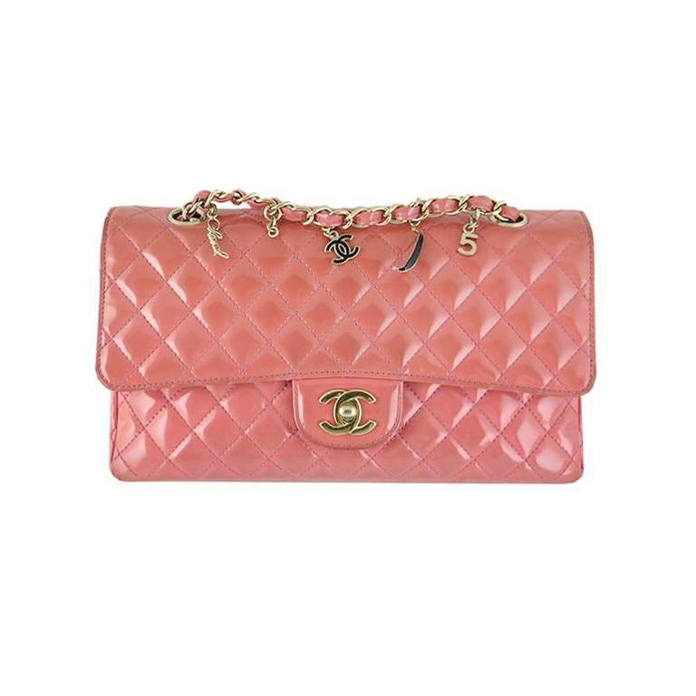 Chanel Ginza 5th Anniversary Pink Patent Medium 2.55 Flap