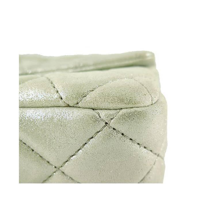 Chanel Reissue Silver Iridescent Calfskin 10inch Medium Clutch 7