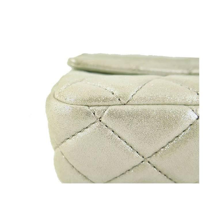 Chanel Reissue Silver Iridescent Calfskin 10inch Medium Clutch 6