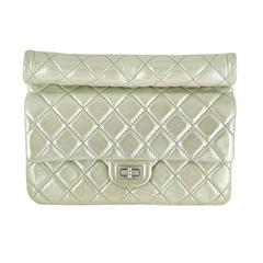 Chanel Reissue Silver Iridescent Calfskin 10inch Medium Clutch