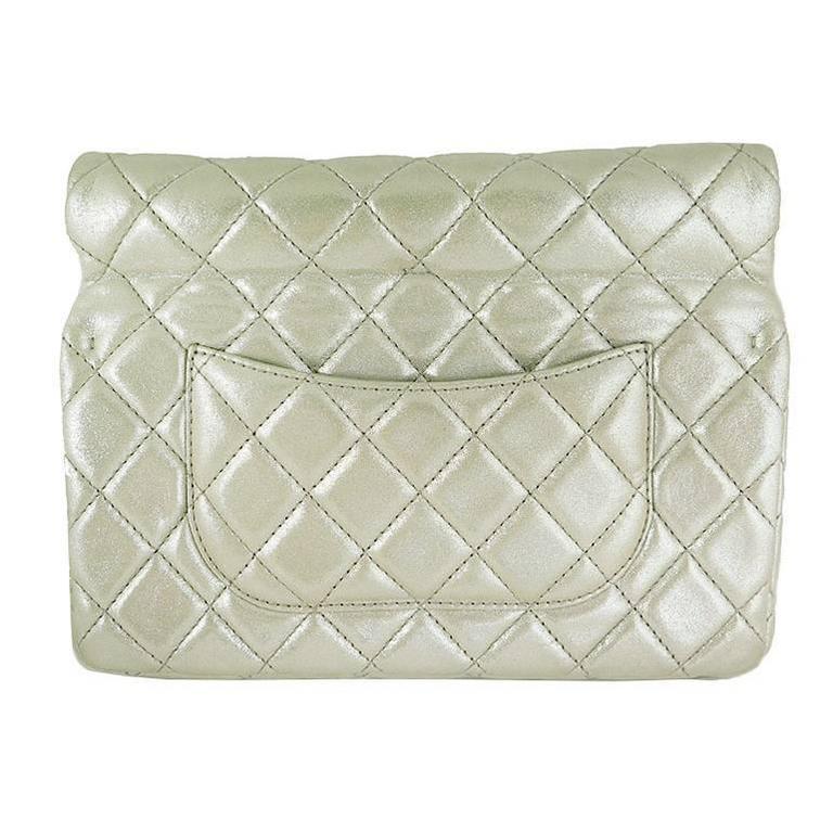 Chanel Reissue Silver Iridescent Calfskin 10inch Medium Clutch 2