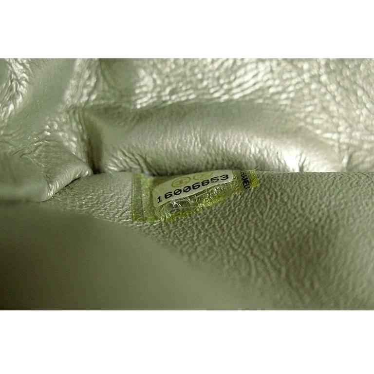 Chanel Reissue Silver Iridescent Calfskin 10inch Medium Clutch 8