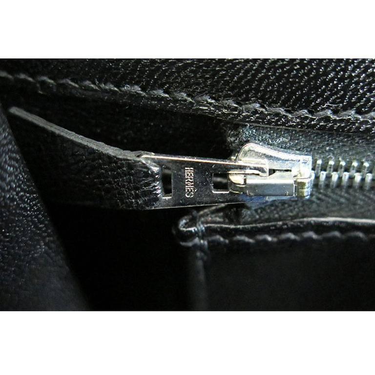 Hermes Birkin 35 Black Porosus Crocodile Alligator Palladium Hardware 6