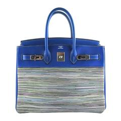 Hermes Blue Vibrato Birkin 35cm Gulliver Leather - Rare