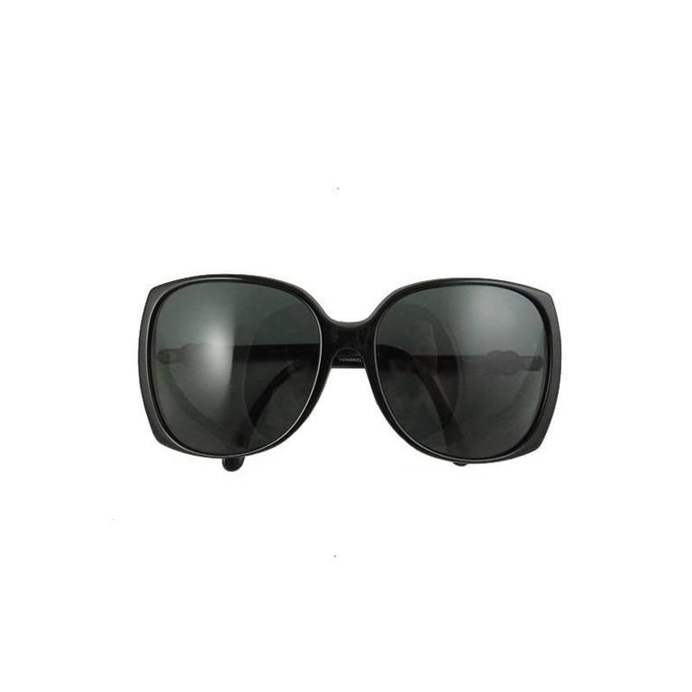 Chanel Black Silver CC Sunglasses Shades 2