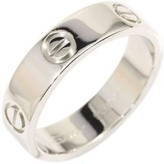 CARTIER 18KWG White Gold Love Ring US8.5 EU58