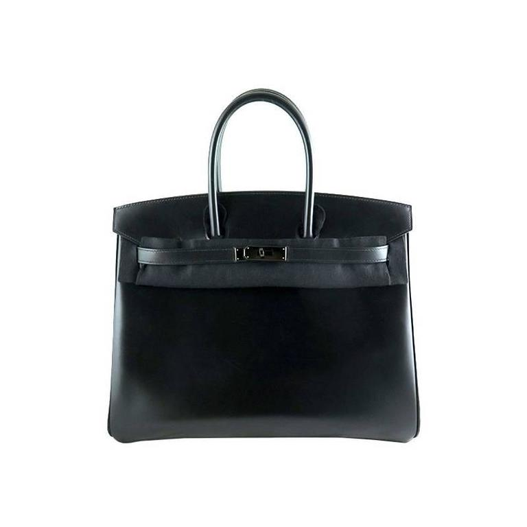 Hermes So Black Birkin 35cm Boxcalf Leather Black Hardware - RARE