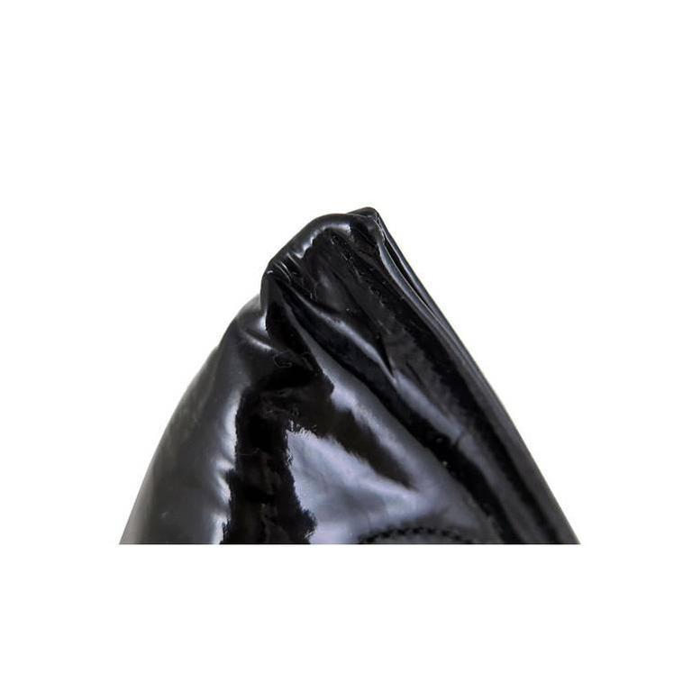 Chanel Black Patent Leather Pyramid Triangle CC Minaudiere Bag 5