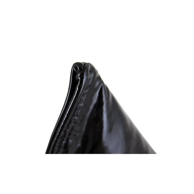 Chanel Black Patent Leather Pyramid Triangle CC Minaudiere Bag For Sale 2