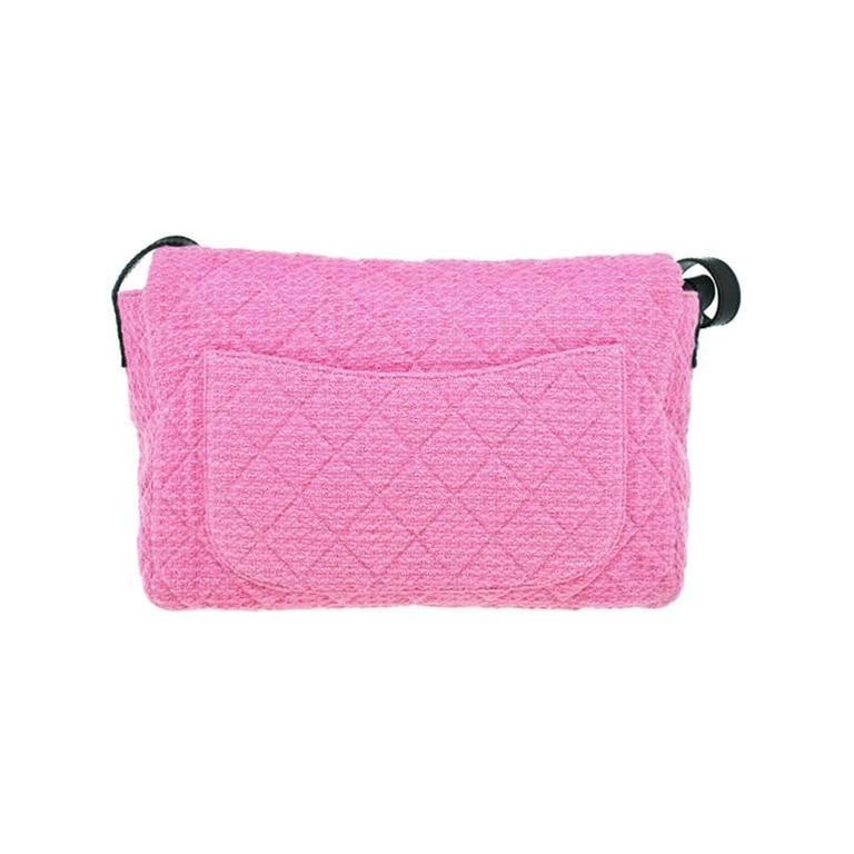 Chanel Reissue Pink Tweed Boucle Messenger Seasonal Sling Bag For ...