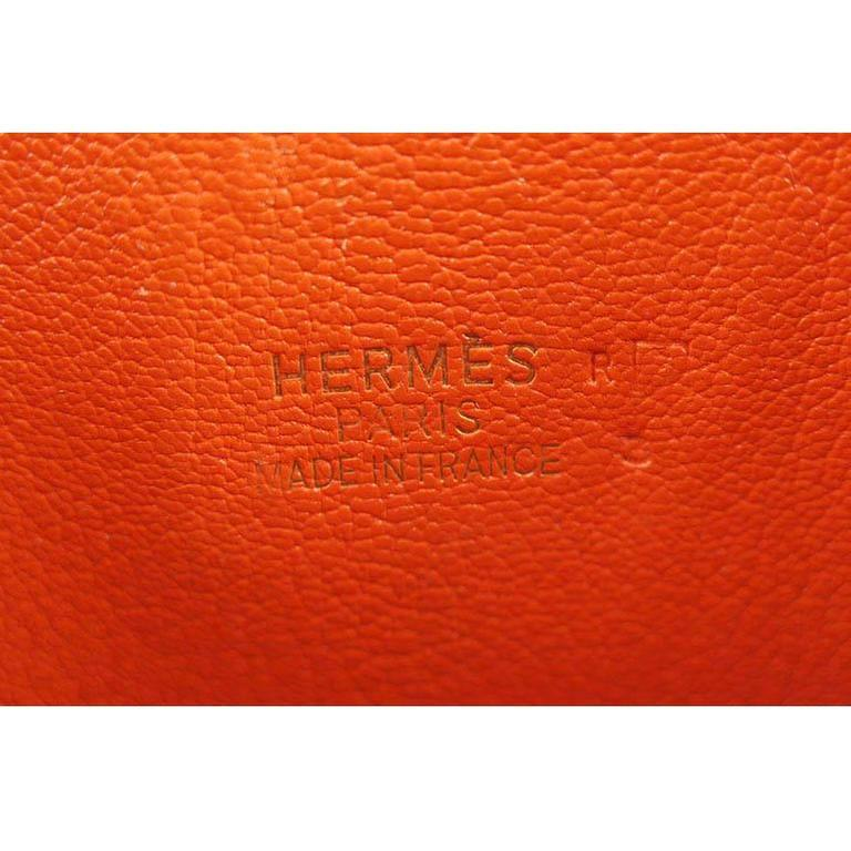 Hermes Birkin 30 Orange Dalmatian Buffalo Leather Gold Hardware Bag - Rare 6