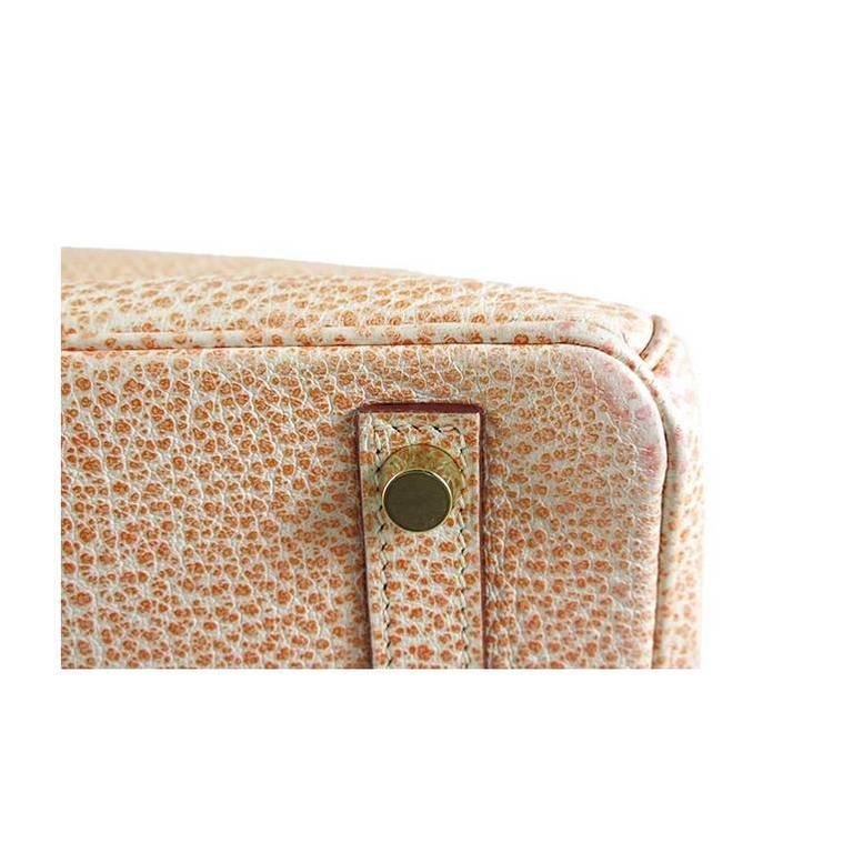 Hermes Birkin 30 Orange Dalmatian Buffalo Leather Gold Hardware Bag  For Sale 4