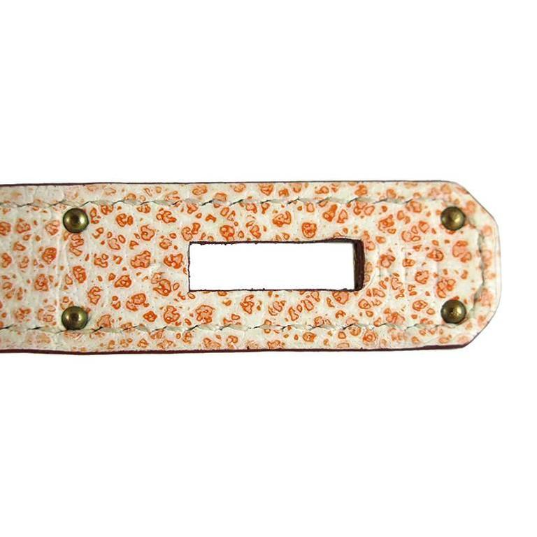 Hermes Birkin 30 Orange Dalmatian Buffalo Leather Gold Hardware Bag  For Sale 5