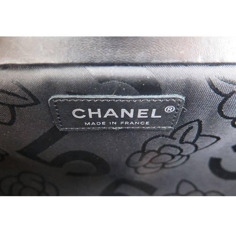 Chanel Black Lambskin Mademoiselle Evening Clutch Purse 6