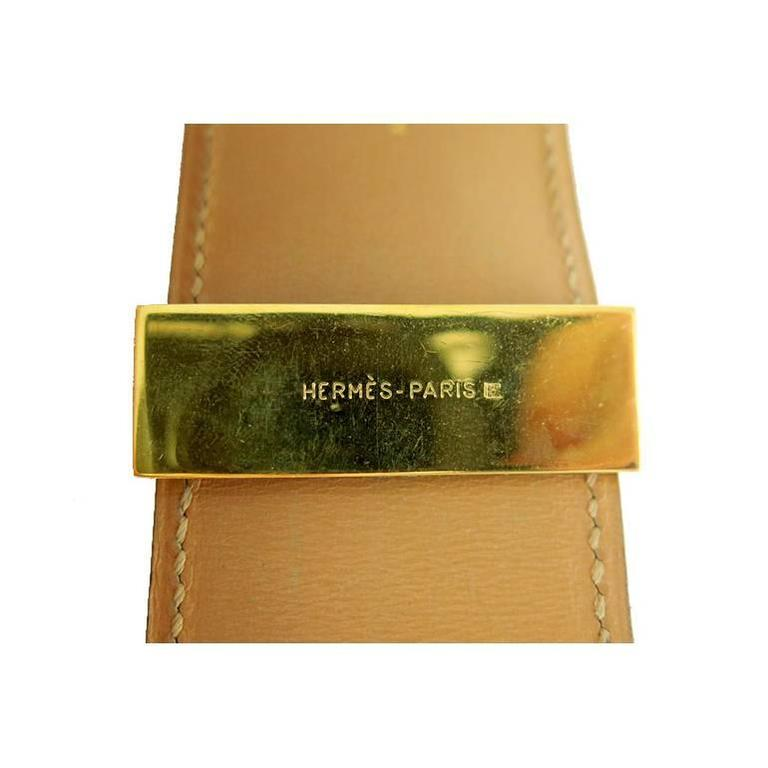 Hermes Red Cdc Collier De Chien Leather Gold Hardware Bracelet 4