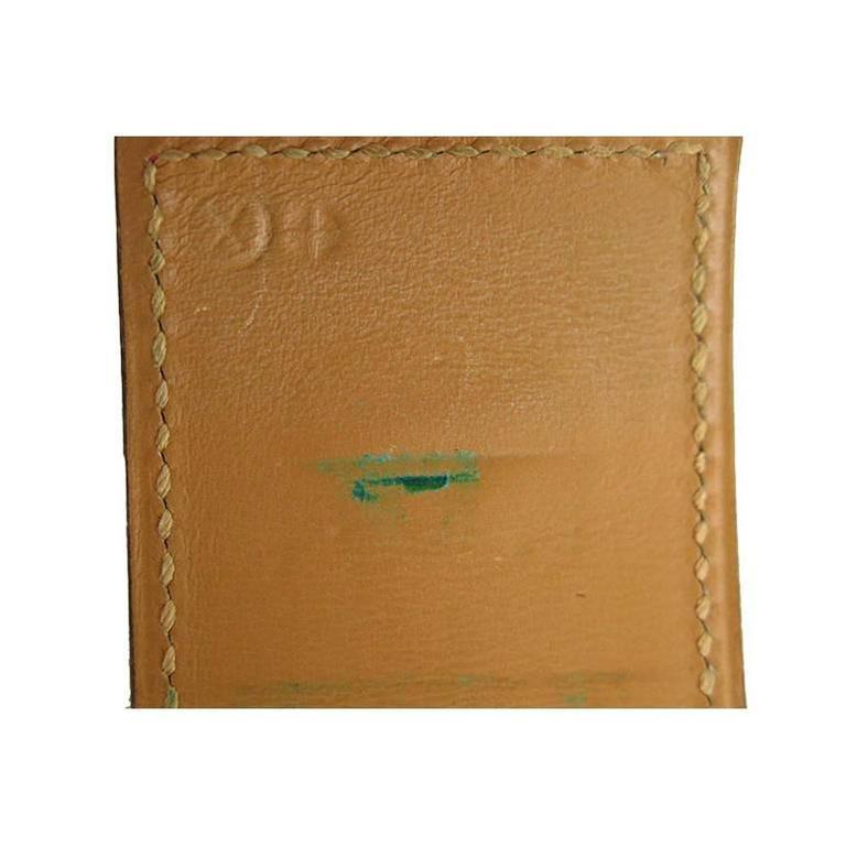 Hermes Red Cdc Collier De Chien Leather Gold Hardware Bracelet 5
