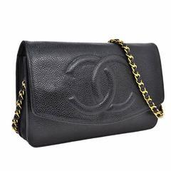 Chanel Woc Black Caviar Wallet On Chain 3way Crossbody Bag