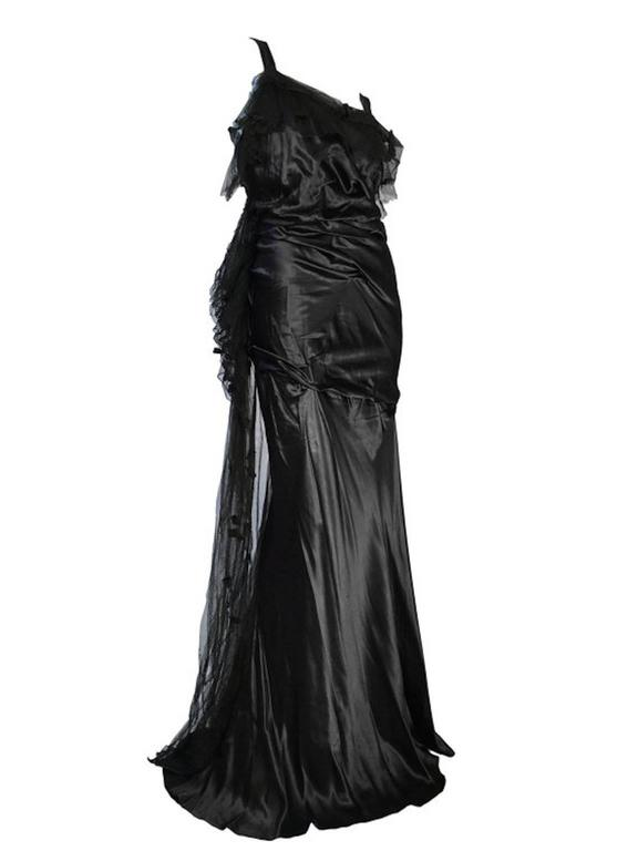Rare Art Deco Victor Stiebel Late 1920s Silk Satin Evening Gown Dress Couture Vi 3