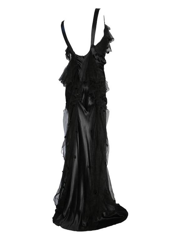 Rare Art Deco Victor Stiebel Late 1920s Silk Satin Evening Gown Dress Couture Vi 2