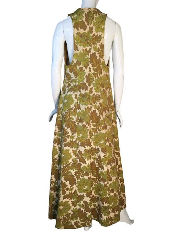 Original 1970s Vintage Biba Tapestry Full Length Maxi Waistcoat Size UK 8 2