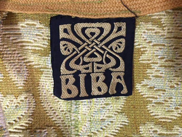 Original 1970s Vintage Biba Tapestry Full Length Maxi Waistcoat Size UK 8 3