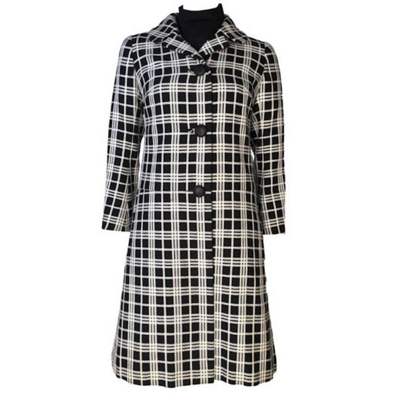 1960s Christian Dior Diorling Black Woven Cotton Mini Dress and ...
