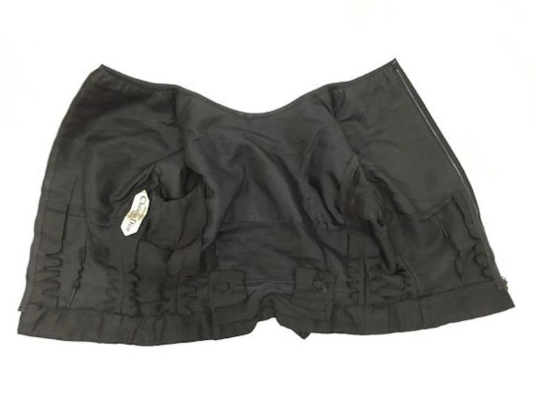 Christian Dior 1959 Black Haute Couture Yves Saint Laurent Black Wool Top 10 5