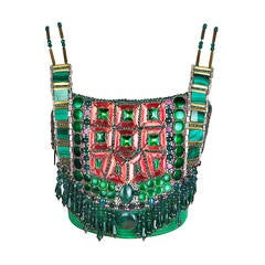 Iconic Atelier Versace Beaded Bodice Breastplate Spring 1991