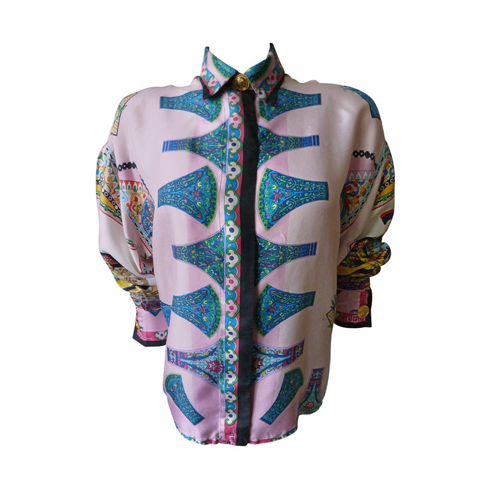 Chinese Print Blouse 10
